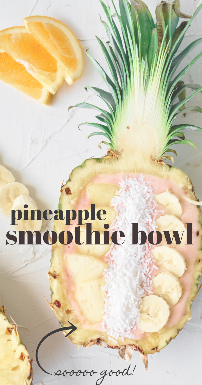 make a pineapple smoothie bowl