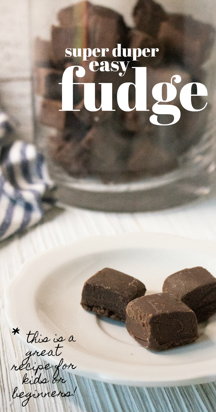 Make this easy fudge recipe in the microwave