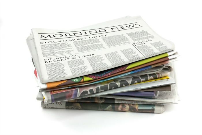 Newspapers for Halloween Costumes