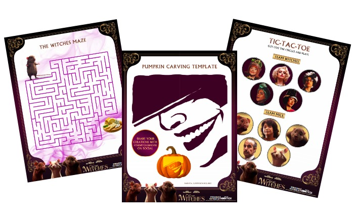The Witches Activity Sheets
