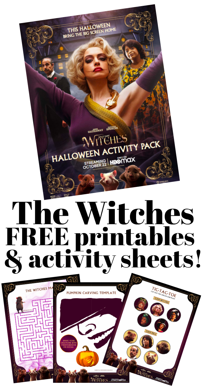 The Witches FREE Activity Sheets