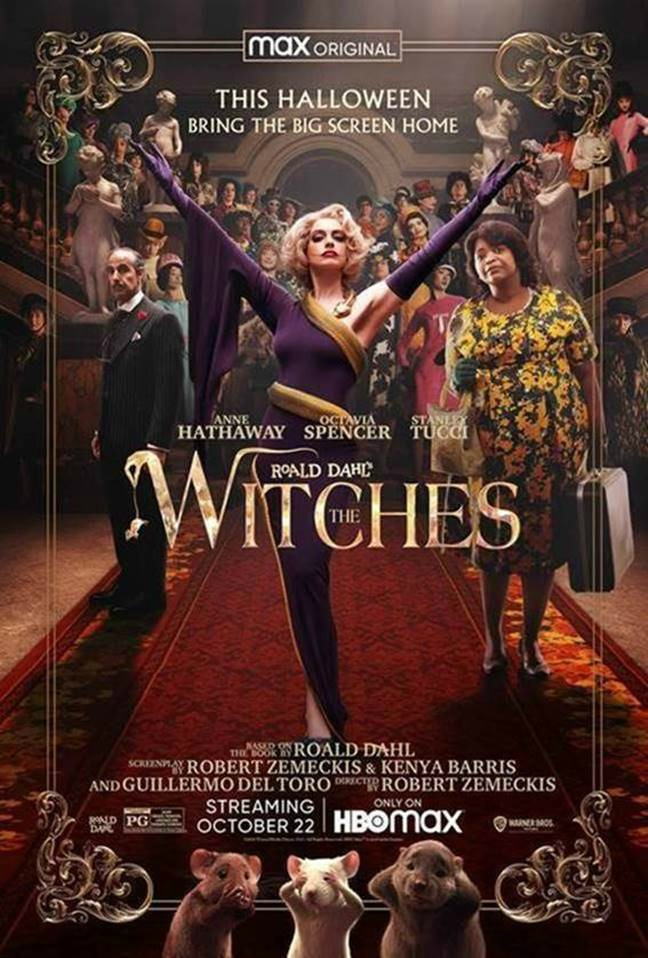 The Witches by Roald Dahl is a movie on HBO Max