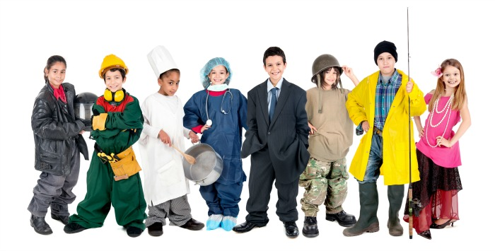 Upcycled Halloween Costumes for kids
