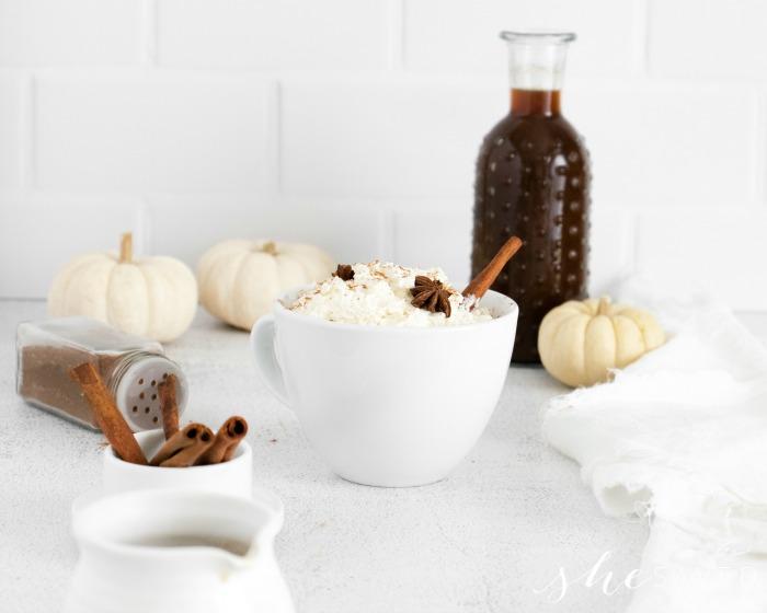 making homemade latte