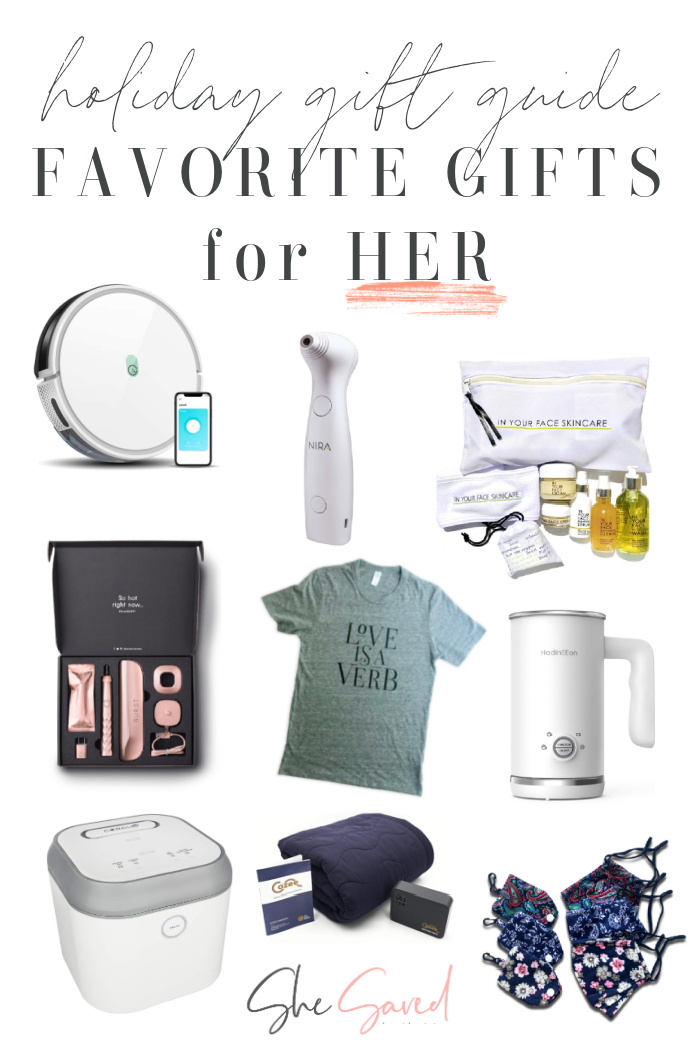 Favorite Gifts for Her 2020 Holiday Gift Guide from She Saved
