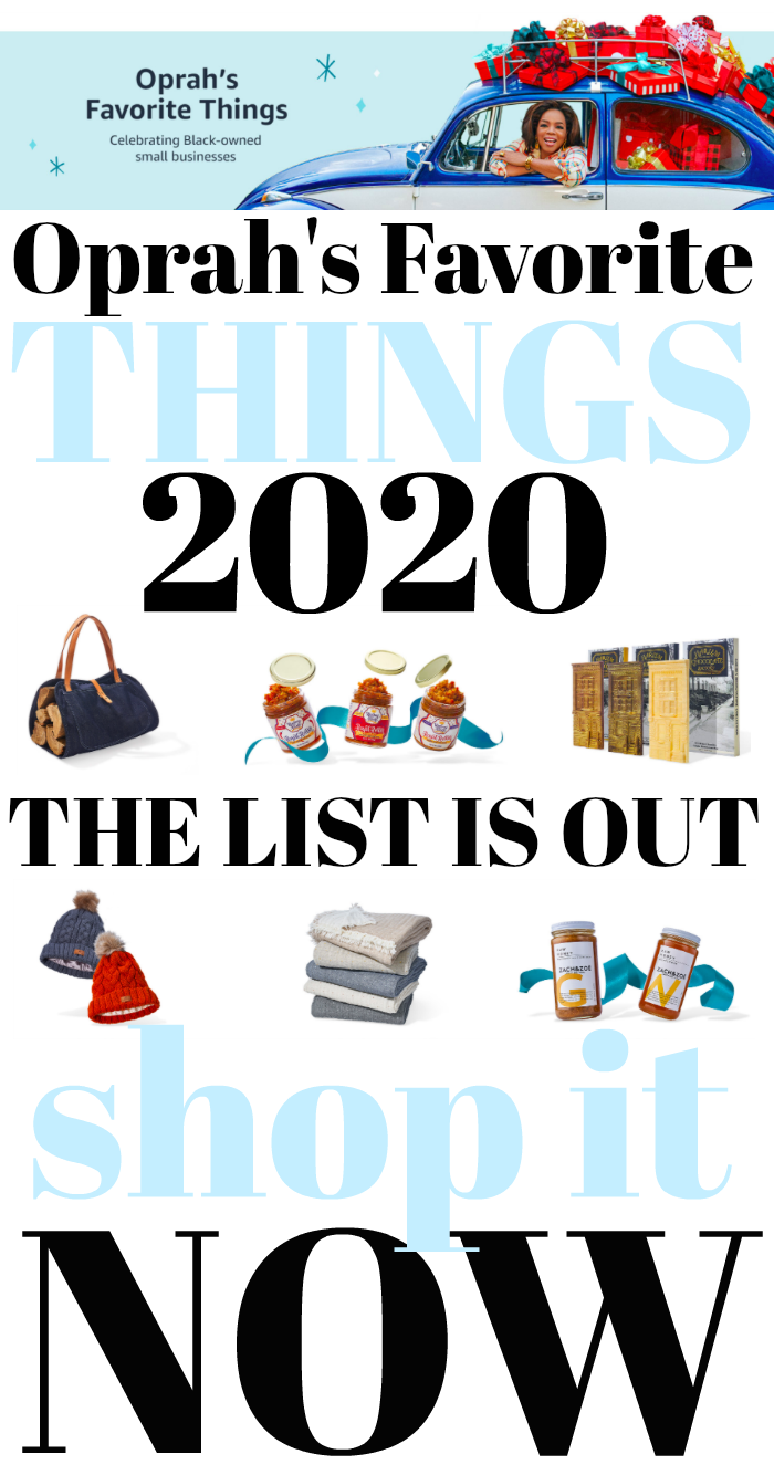 Oprah's Favorite Things 2020 Shopping List