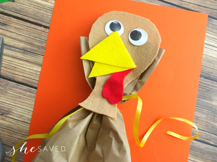 Turkey Felt Beak Craft