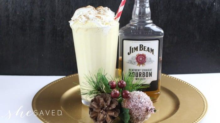 Boozy Eggnog Christmas Drink