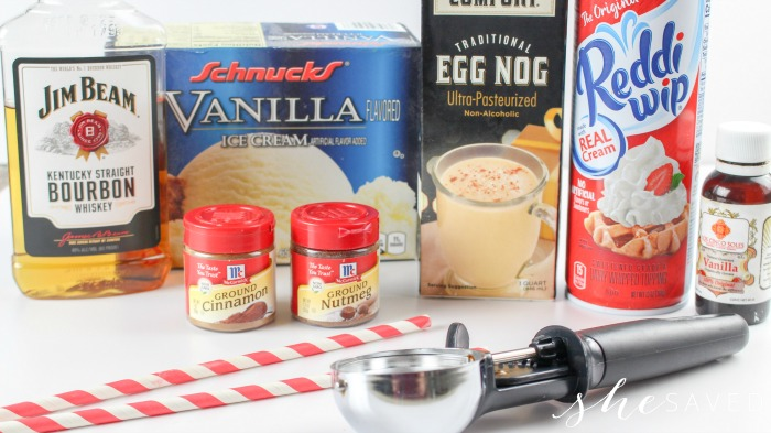 Boozy Eggnog Recipe Ingredients