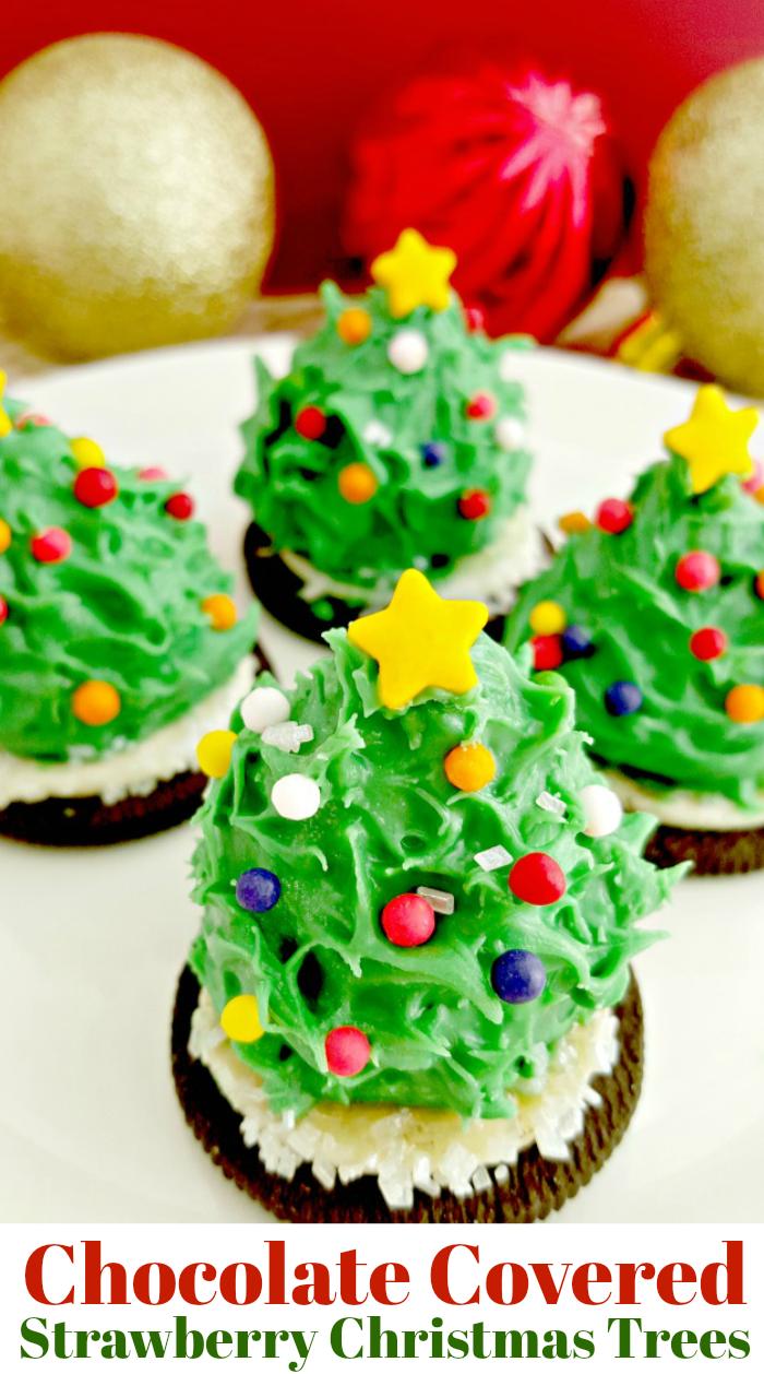 Chocolate Covered Christmas Tree Strawberries