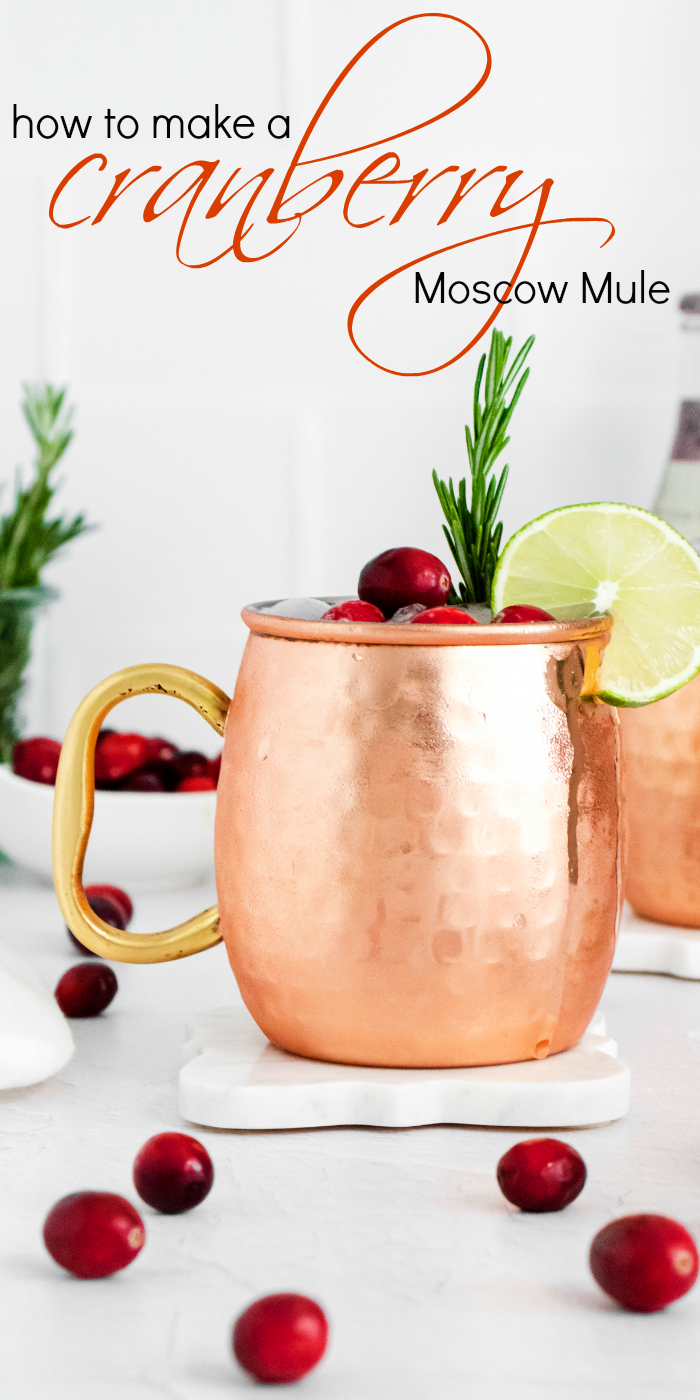 How to make a Cranberry Moscow Mule Recipe