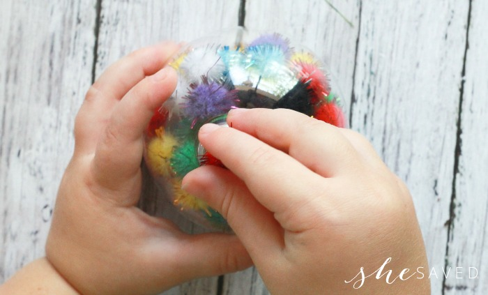 DIY Pom Pom Craft Ornaments for Toddlers