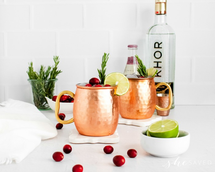 Moscow Mule Recipe with Cranberry