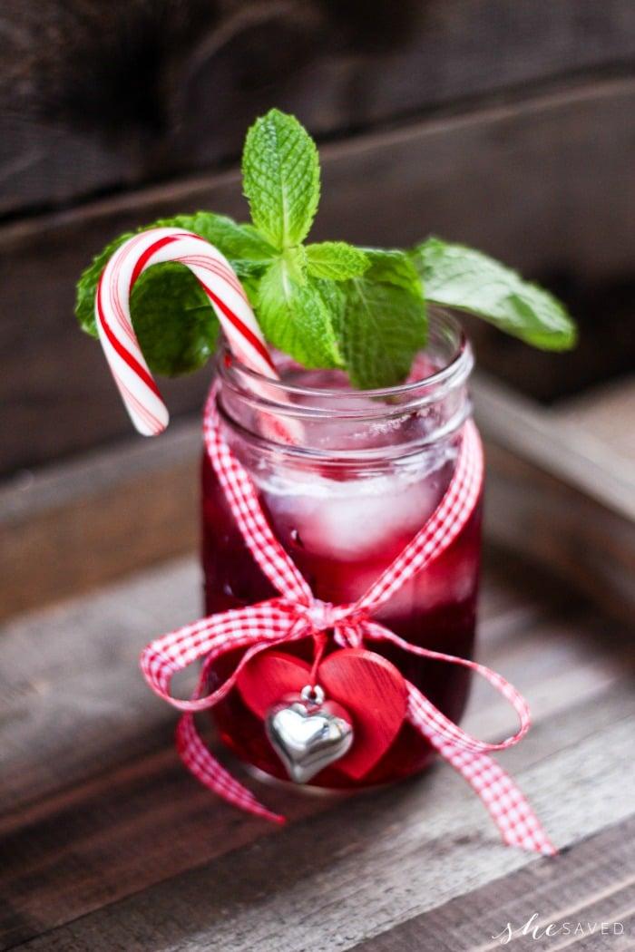 Red Christmas Cheer in a Mason Jar