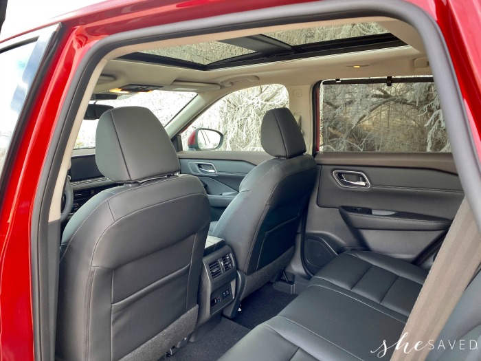 Back Seating in the Nissan Rogue 2021
