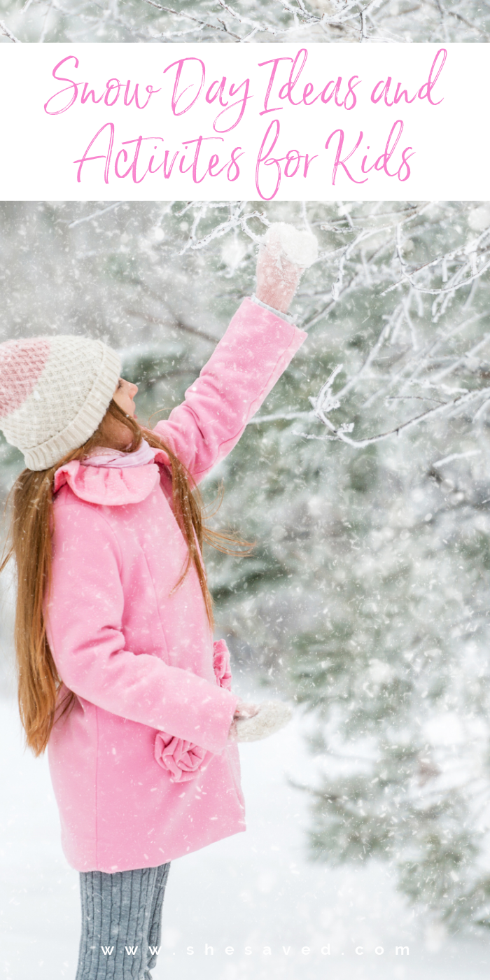 The best days are snowy days and here are our favorite Snow Day Ideas and activities for kids!