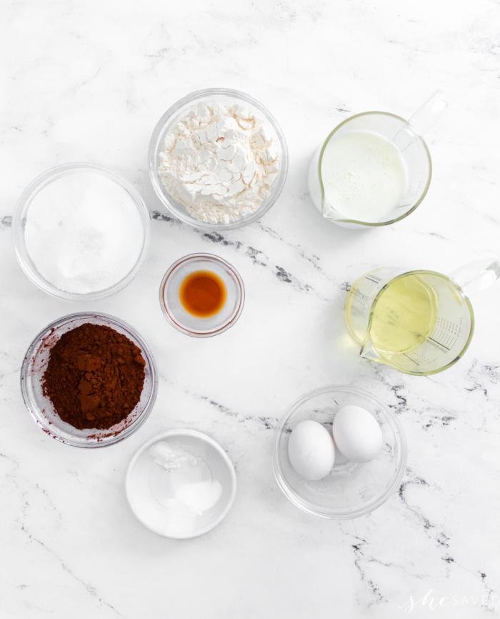 Strawberry Cupcake Ingredients