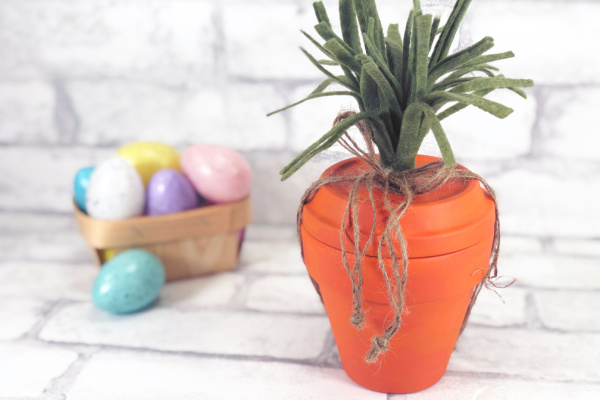 Clay Pot Easter Craft Carrot DIY