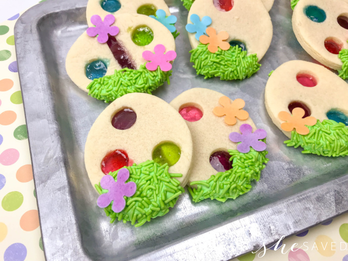 Jolly Rancher Stained Glass Easter Cookie