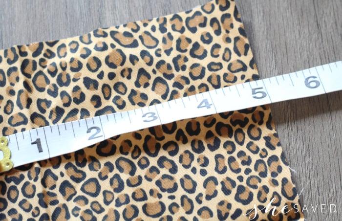 Measuring Scrunchie Fabric