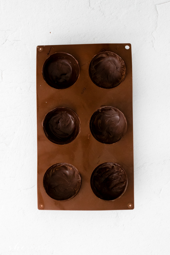 Filling Molds for Chocolate Bombs