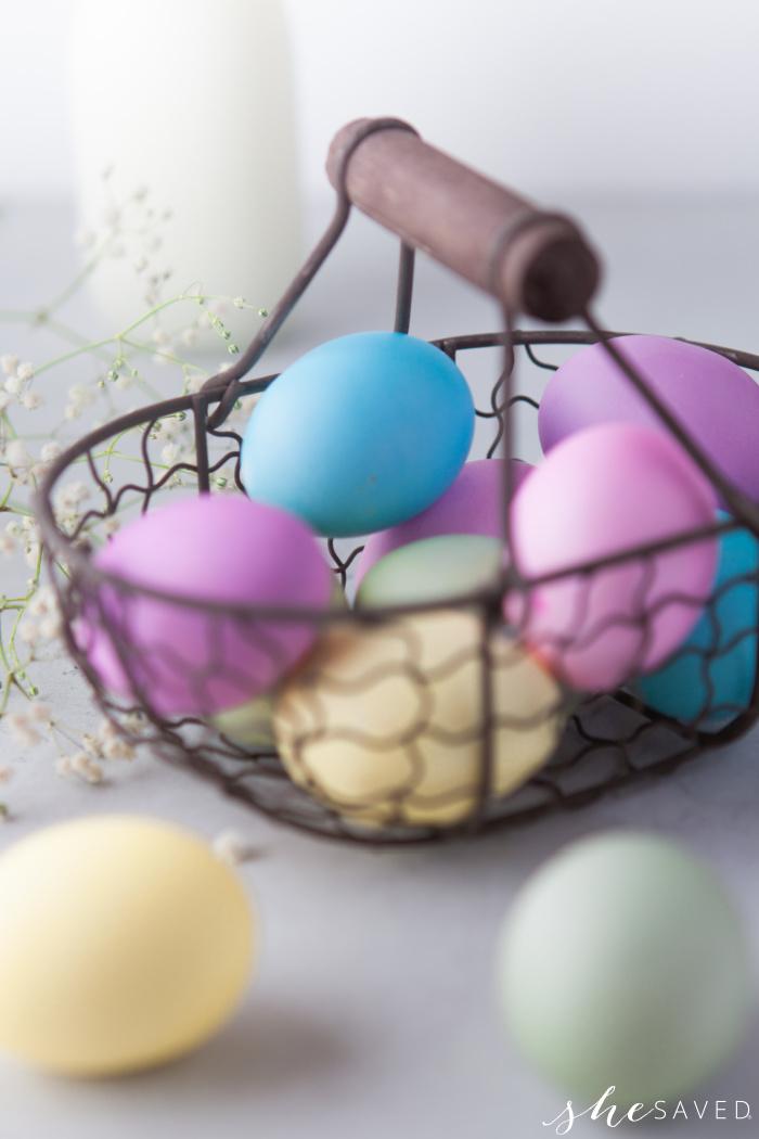 Prettiest Colored Easter Egg Technique