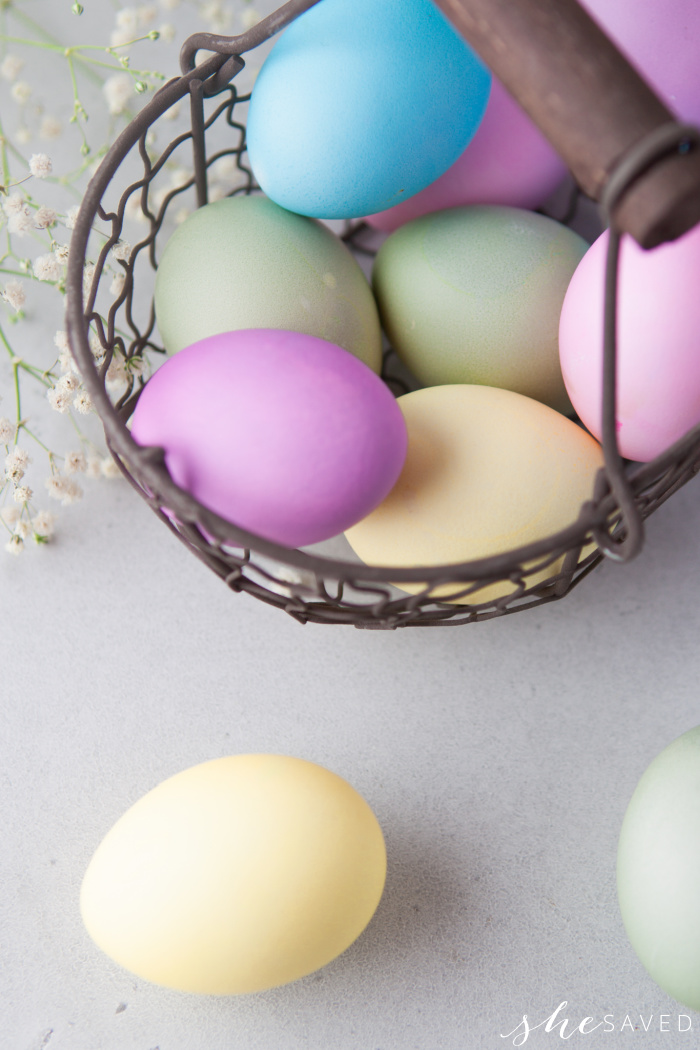 Prettiest Colored Easter Eggs