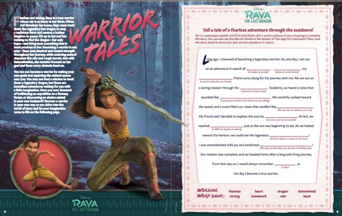 Raya and the Last Dragon Warrior Tales Worksheet