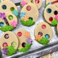 Stained Glass Easter Cookies