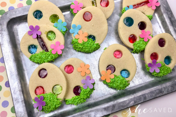 Stained Glass Easter Cookie Recipe with Jolly Ranchers