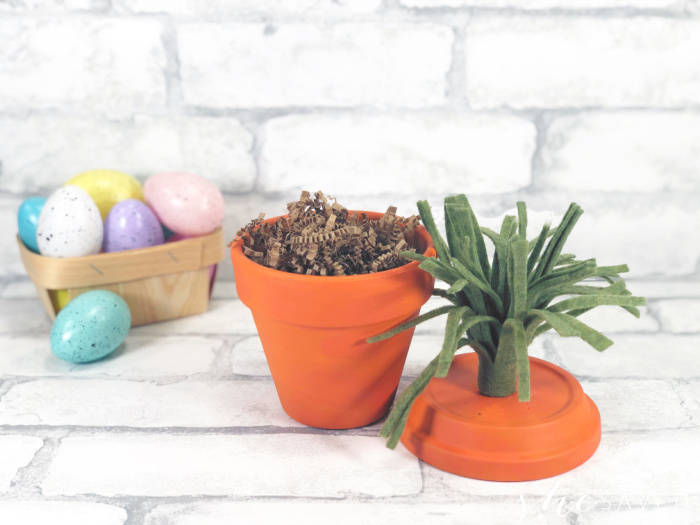 Terra Cotta Carrot Craft to fill with Easter treats