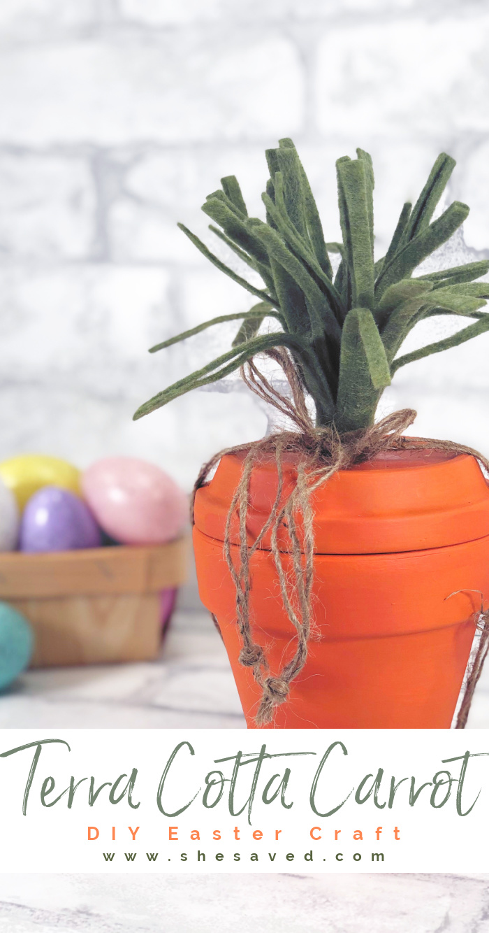 Easy Terra Cotta Carrot Easter Craft Activity for Kids