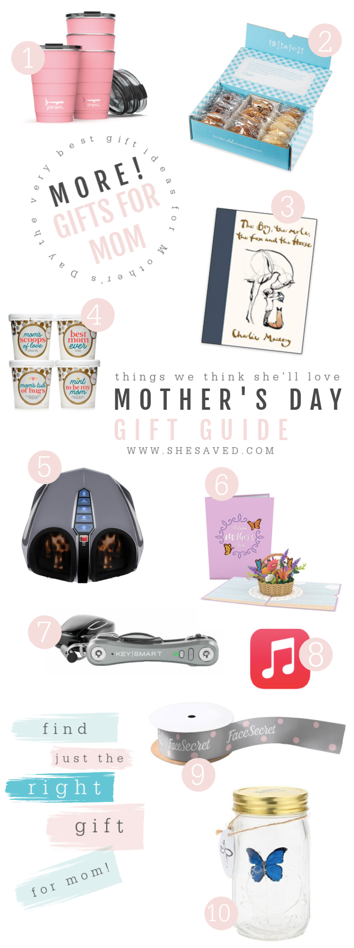 She Saved MORE Gift Ideas for Mom for Mother's Day