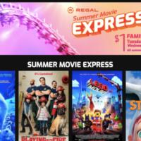 2021 Regal Cinemas $1 Summer Movie Schedule