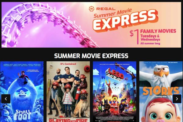 $1 Summer Movie Schedule Calendar
