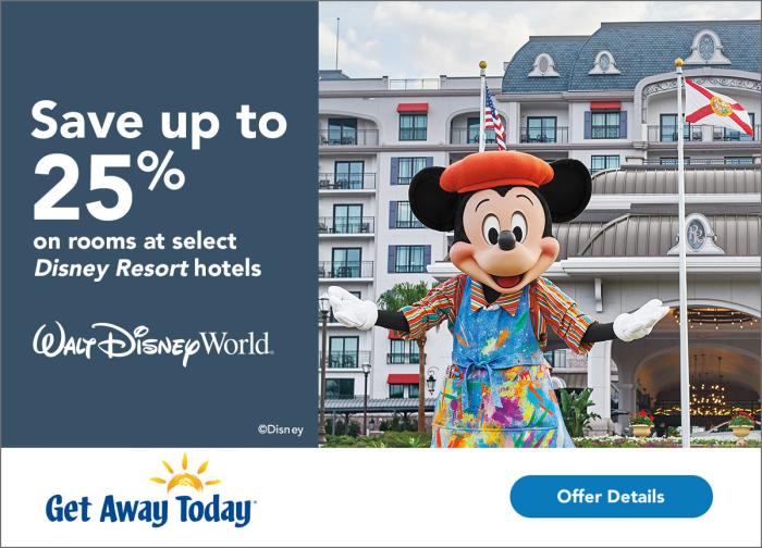 25% off at Walt Disney World Resort