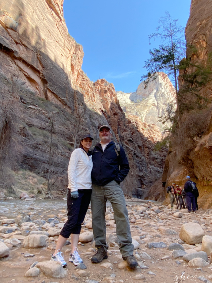 Entrance to the Narrows in Zion National Park