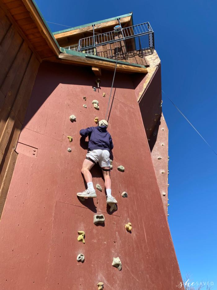 Rock Climbing Wall at Zion Ponderosa Ranch