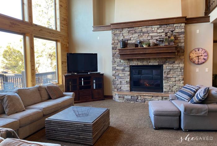 Zion Ridge Vacation Rental Living Area
