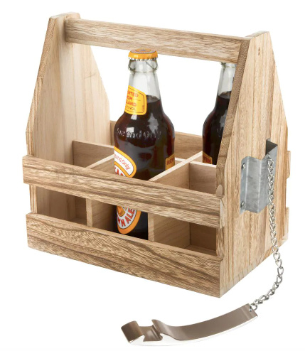 The Mixology Beer Caddy with Opener from Home Depot