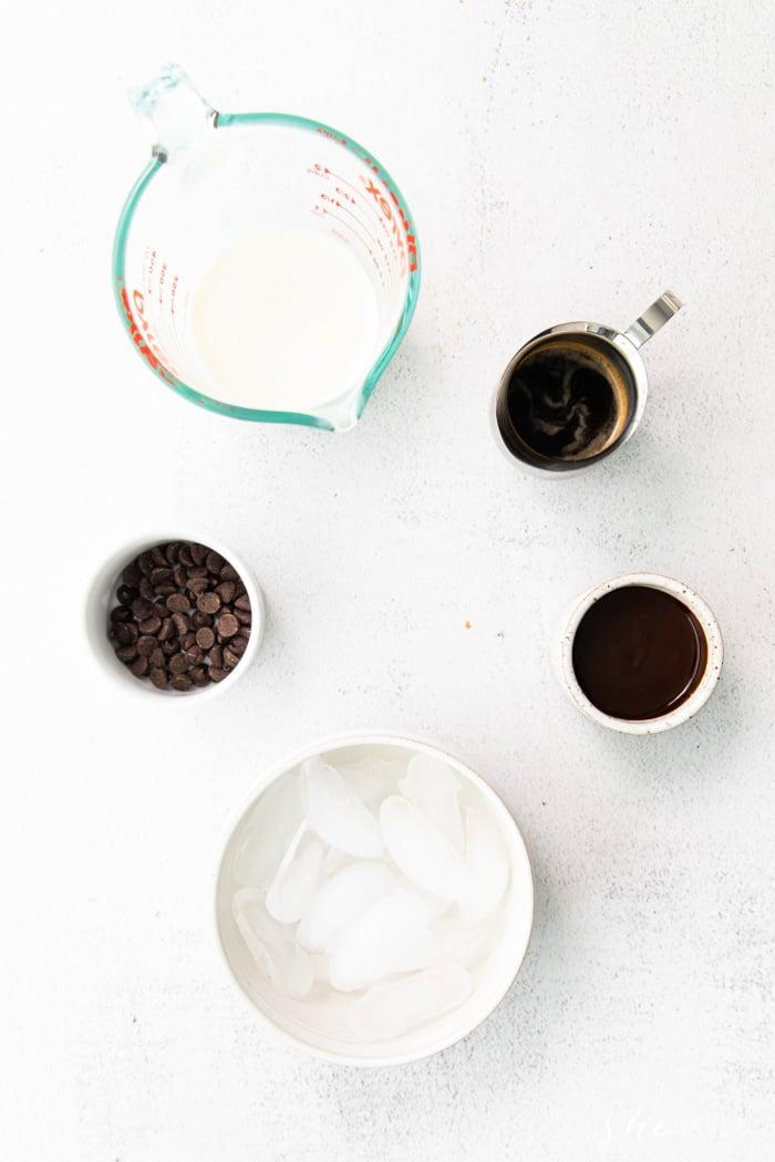 Ingredients for Starbucks Java Chip Frap