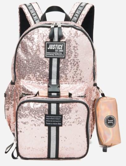 Shimmery Metallic Pink Backpack