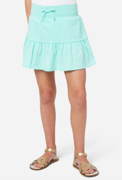 Aqua green tiered skirt from Justice