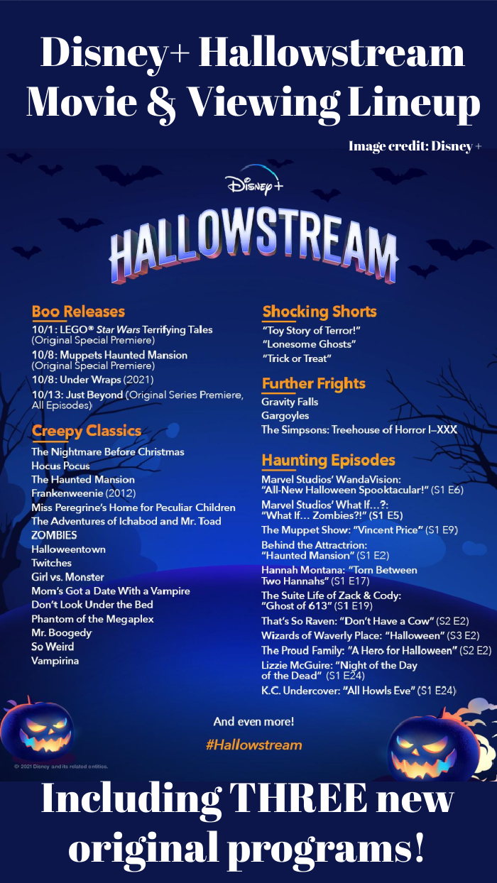 Layout of all Disney + Hallowstream movies