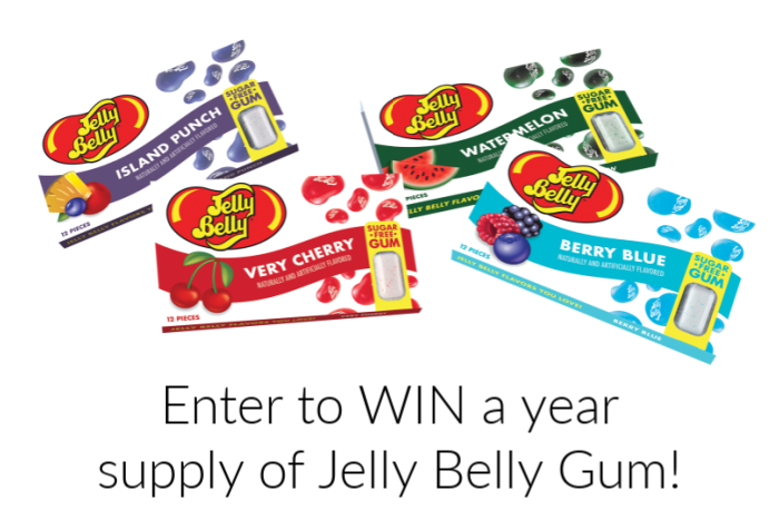 packages of Jelly Belly Gum