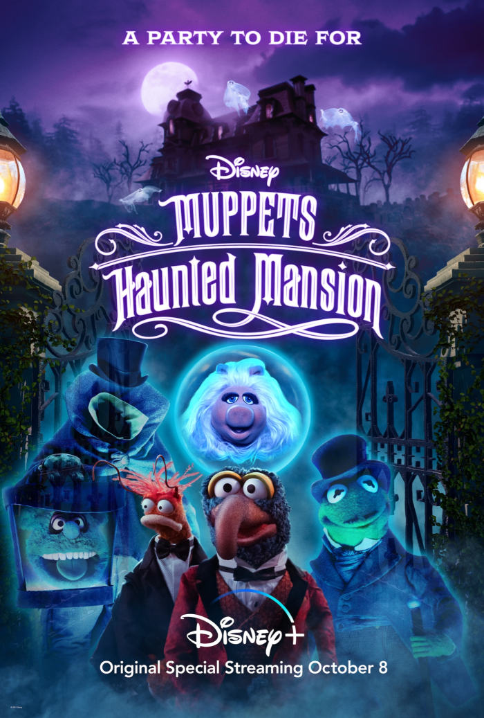Movie poster for Muppets Haunted Mansion on Disney+ Hallowstream