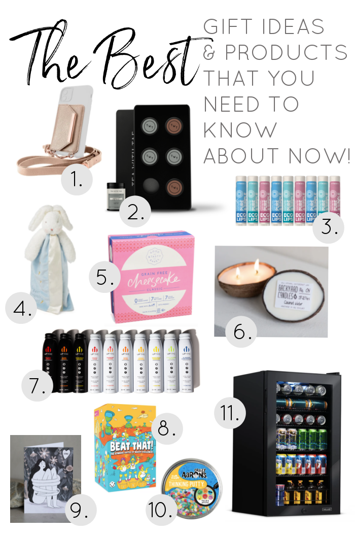 layout of new products and gift ideas