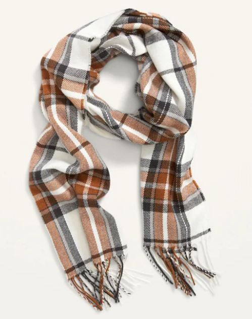 Plaid scarf for men or women