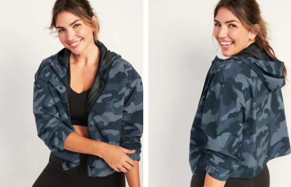 Woman in Old Navy Camo Jacket